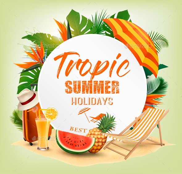 Summer Holiday Background - Travel Conceptual
