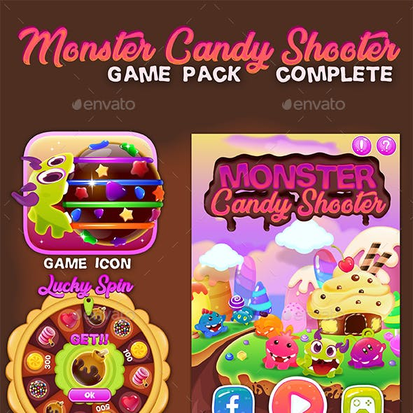 Monster Candy Shooter Game Pack Complete