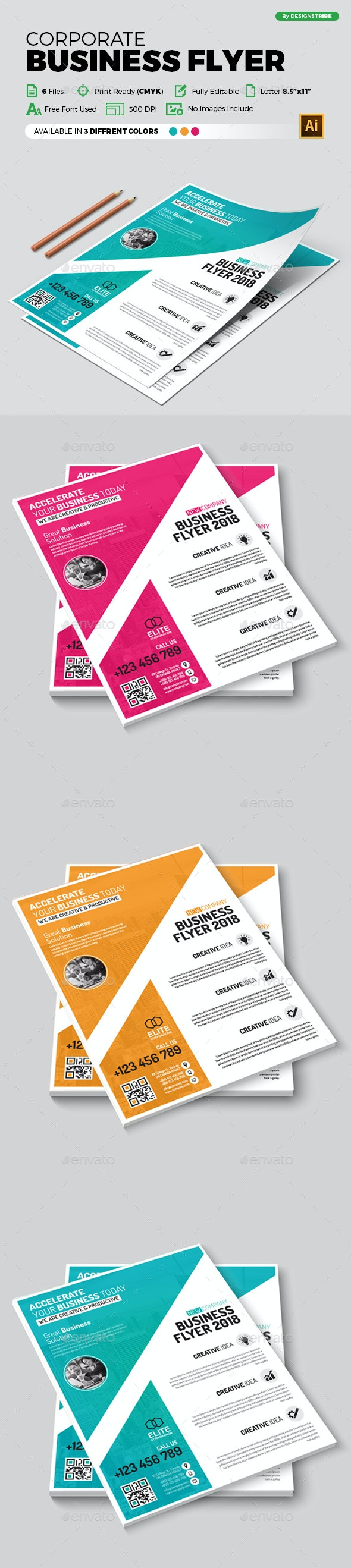 Flyer – Multipurpose 370 - Flyers Print Templates