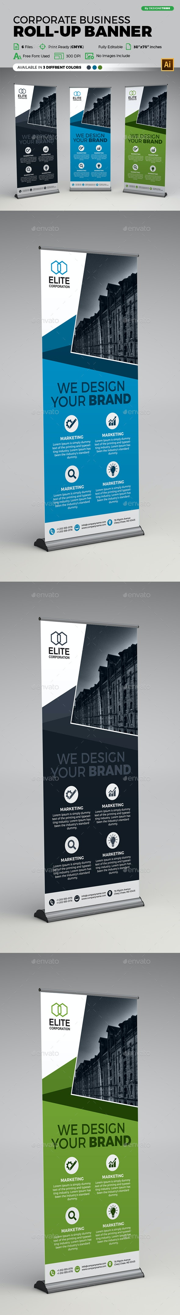 Corporate Business X Banner - Flyers Print Templates