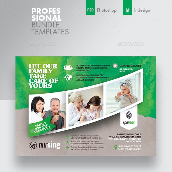 Home Care Flyer Bundle Templates