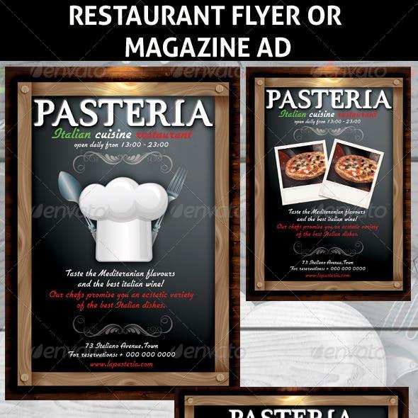 Restaurant Magazine Ads or Flyers 6