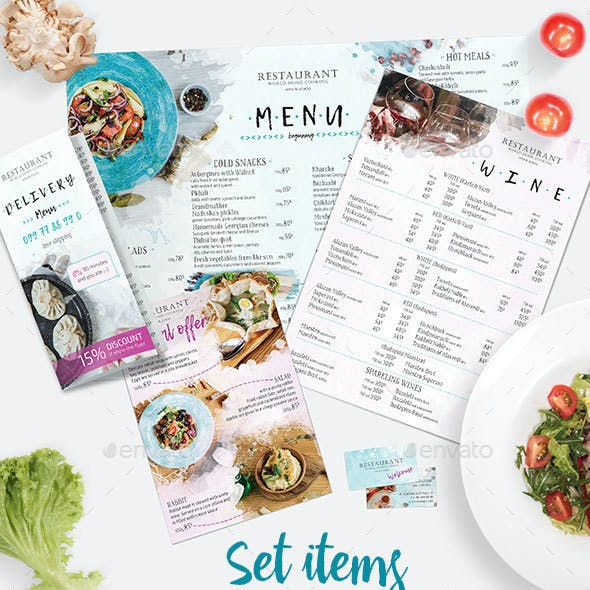 Set Items for Restaurant 5 in 1