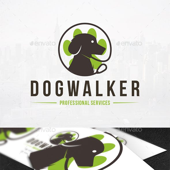 Dog Walker Logo Template