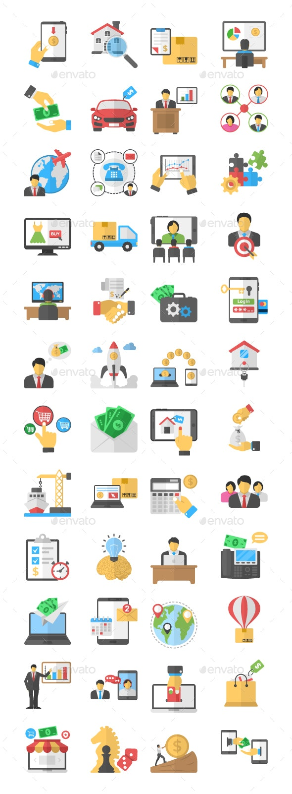 48 Business Purchase Flat icons - Icons