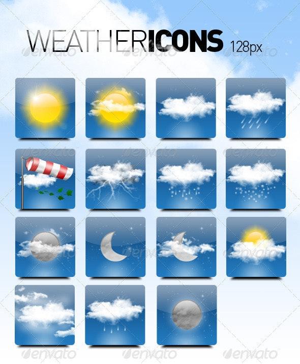 15 Weather Icons - Web Icons