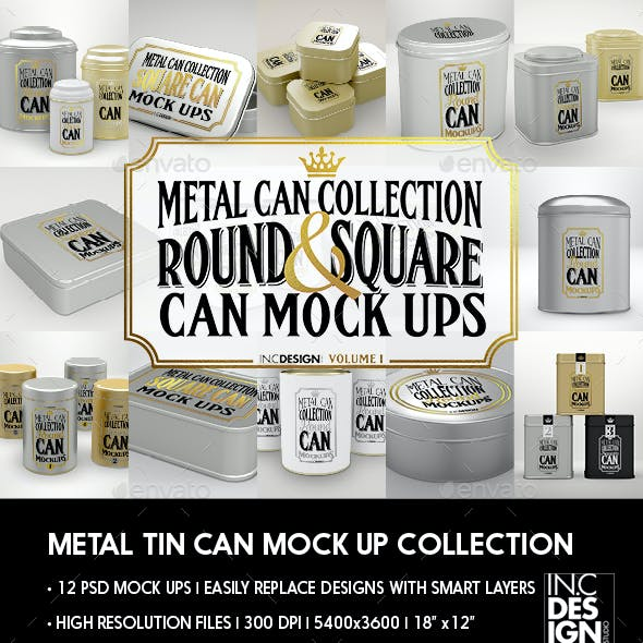 Metal Tin Can MockUp Collection