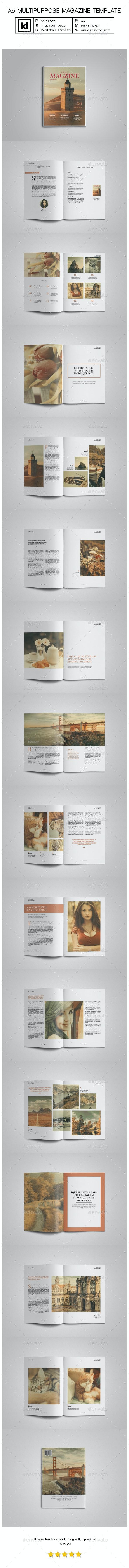 A5 Multipurpose Magazine Template - Magazines Print Templates