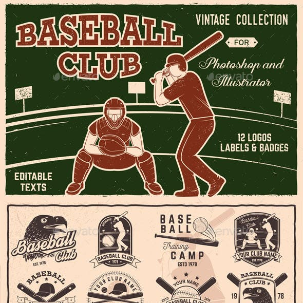 Baseball Club Badges Collection