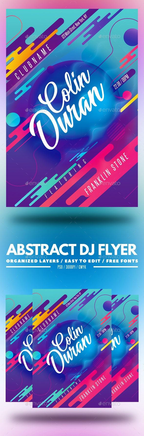 Abstract DJ Flyer - Clubs & Parties Events