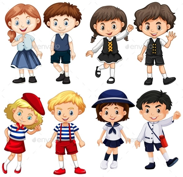 Boys And Girls In Costumes - People Characters