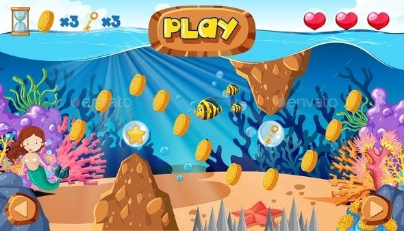 A Mermaid Game Under The Ocean - People Characters