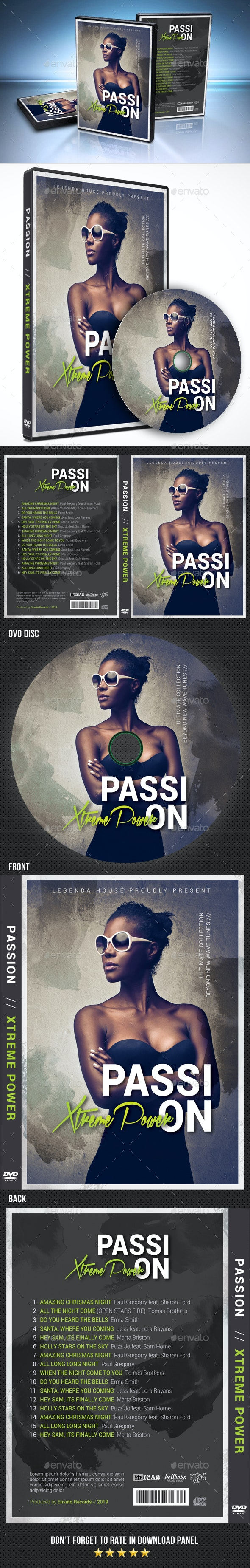 Passion Music DVD Cover Template - CD & DVD Artwork Print Templates