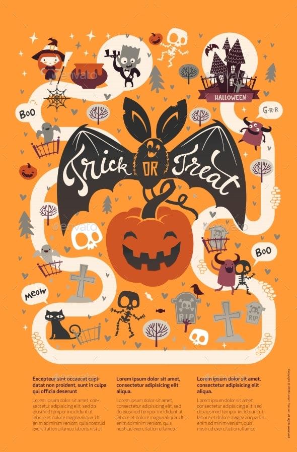 Happy Halloween Flyer Template - Seasons/Holidays Conceptual