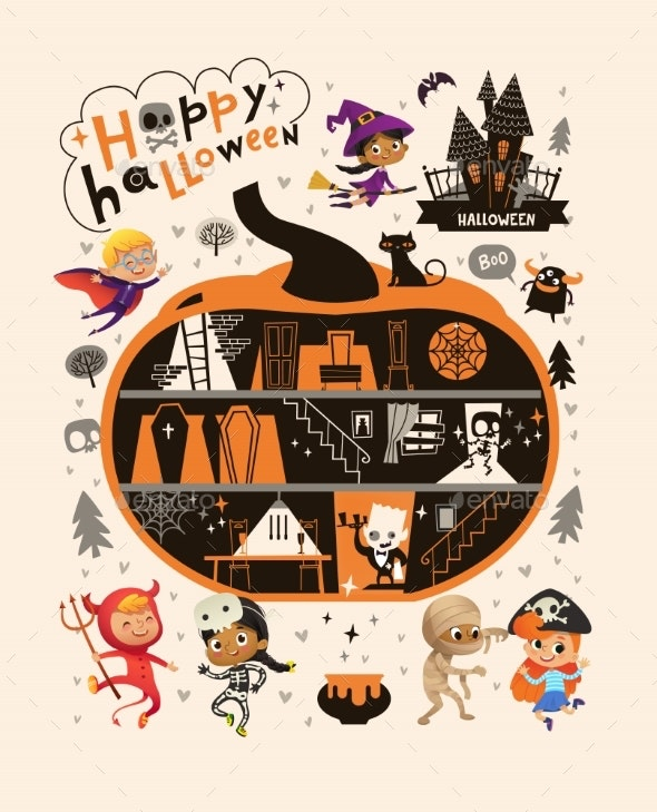 Halloween Party Poster Template - Backgrounds Decorative