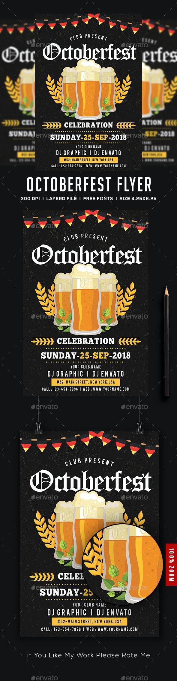 Oktoberfest Flyer / Poster - Flyers Print Templates