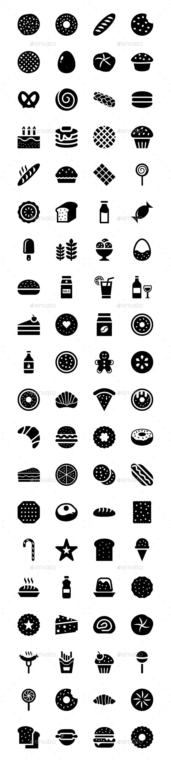80 Bakery Vector Icons - Icons