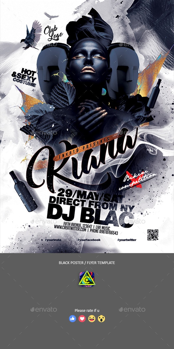 Black Artist Poster / Flyer - Clubs & Parties Events