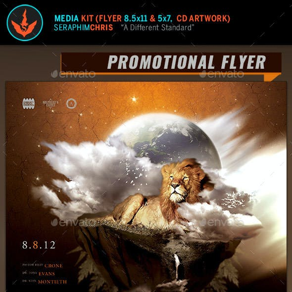 The Righteous Full Page Flyer and CD Artwork Template
