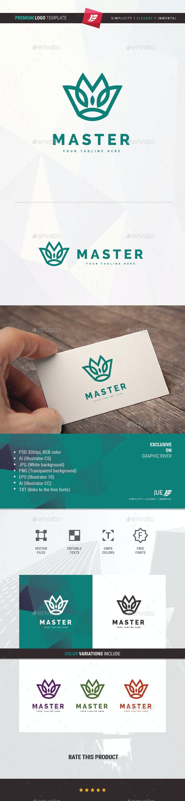 Master Crown Logo - Symbols Logo Templates