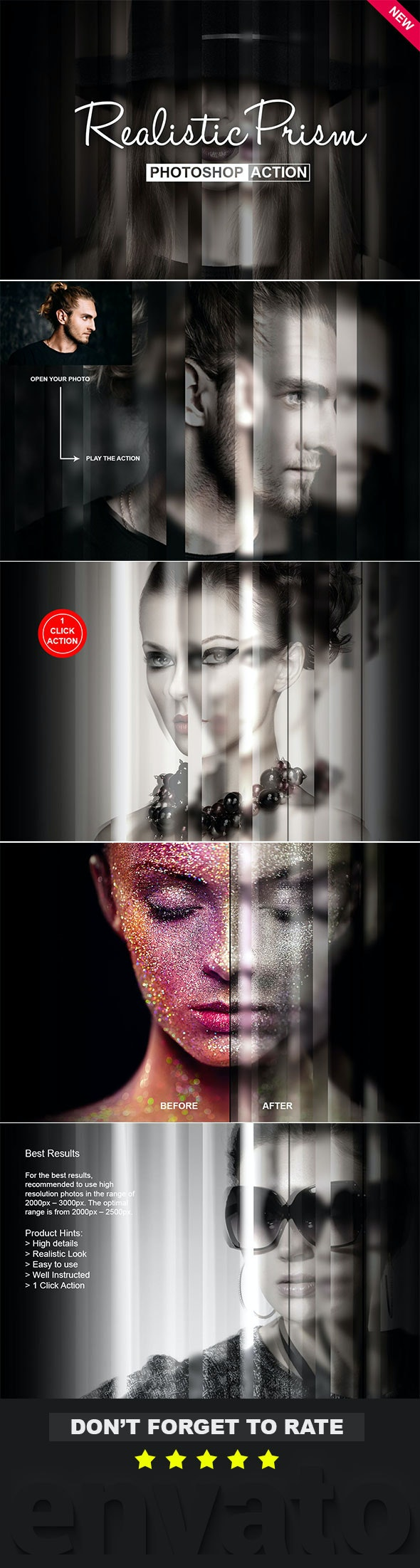 Realistic Prism Photoshop Action - Photo Effects Actions