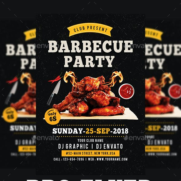 Weekend / Holiday BBQ Party Flyer