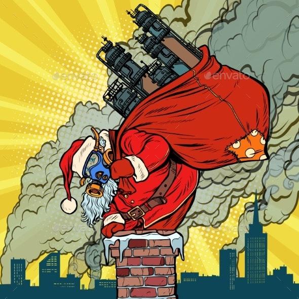 Ecology Factory Pipe Dirty Air Face Mask Santa - Christmas Seasons/Holidays