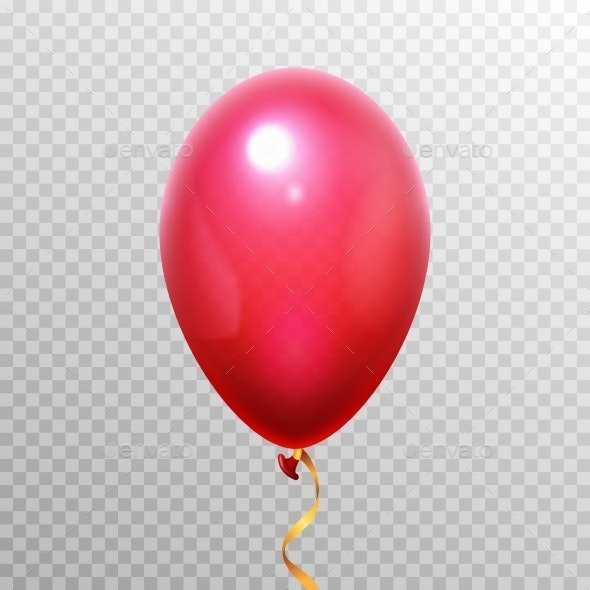 Realistic 3D Red Balloon - Miscellaneous Vectors