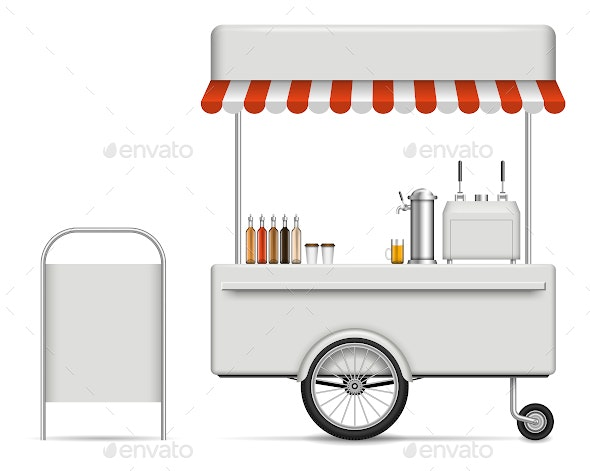 Food Cart - Man-made Objects Objects