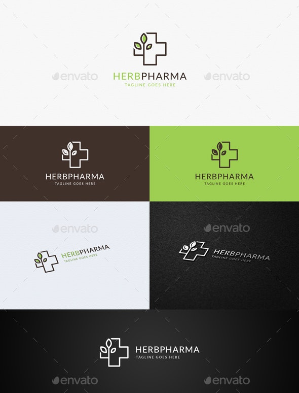 Herbal Pharmacy - Symbols Logo Templates