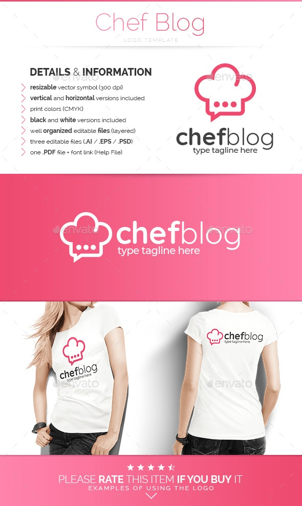 Chef Blog - Logo Template - Food Logo Templates