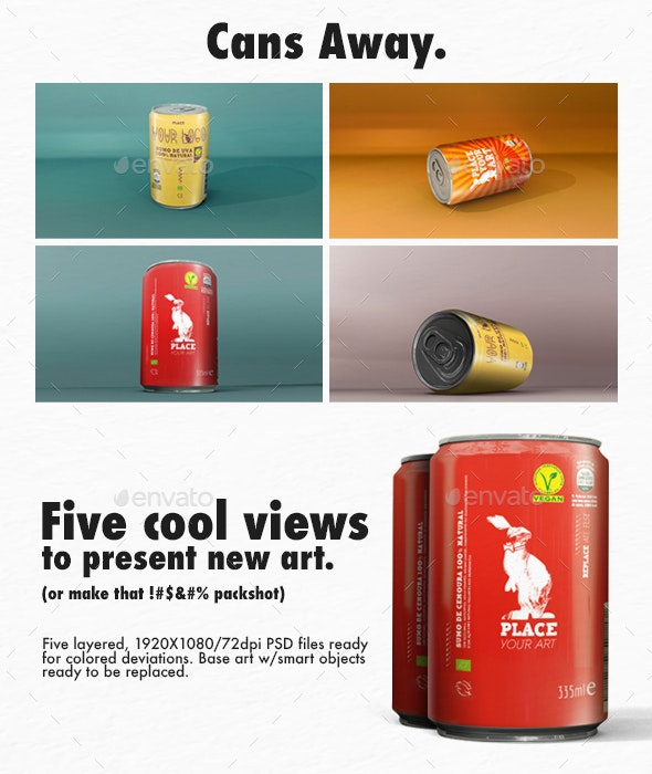 Bunny Colored Cans - Food and Drink Packaging