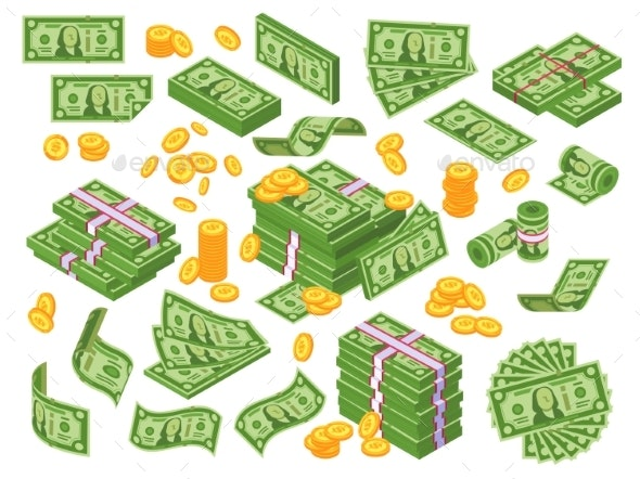 Cartoon Money - Man-made Objects Objects