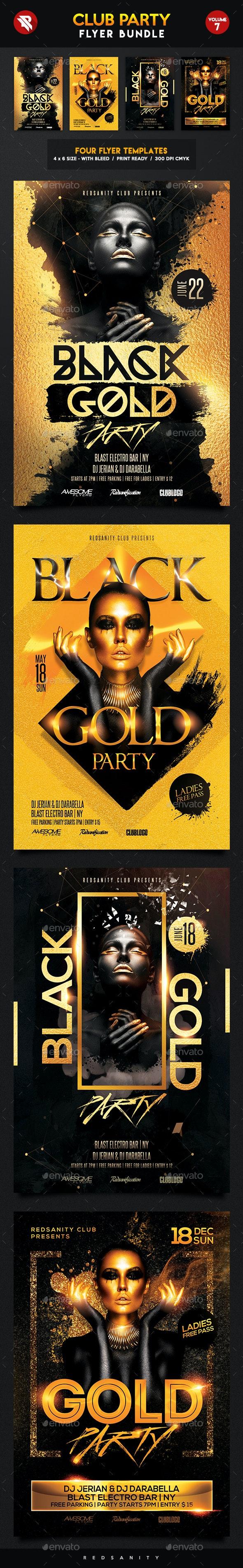 Club Flyer Bundle Vol.7 - Clubs & Parties Events