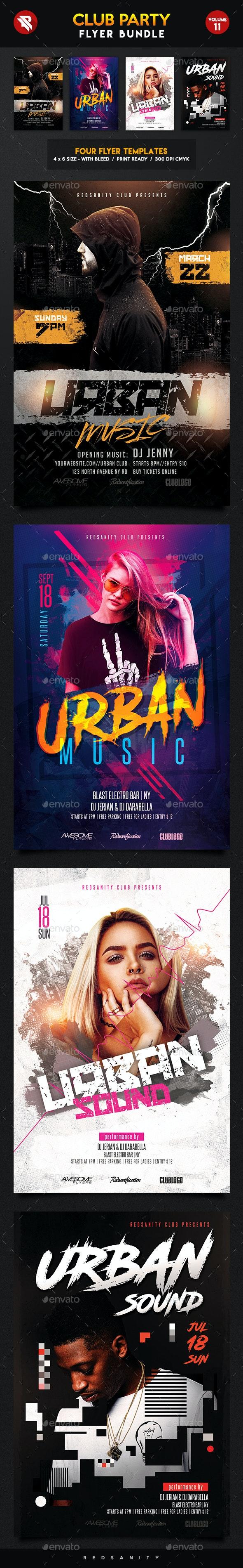 Club Flyer Bundle Vol.11 - Clubs & Parties Events