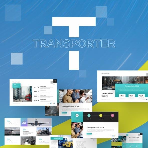 Transporter Transportation PowerPoint Presentation Template