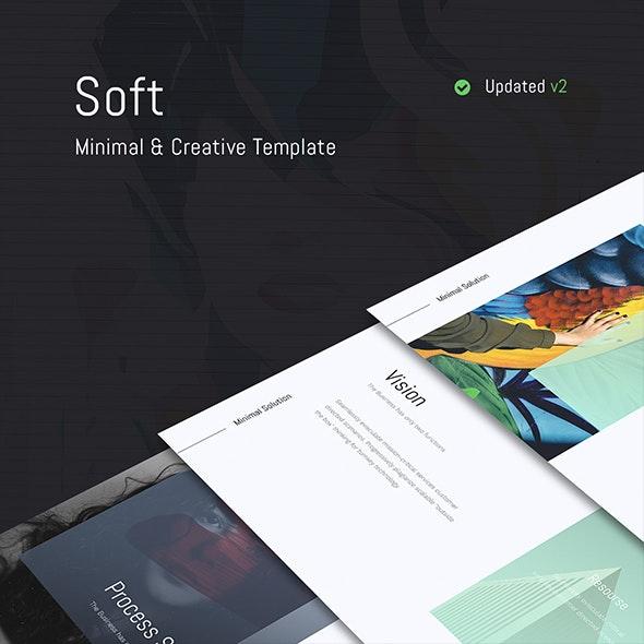Soft - Minimal Template (Powerpoint) - Creative PowerPoint Templates