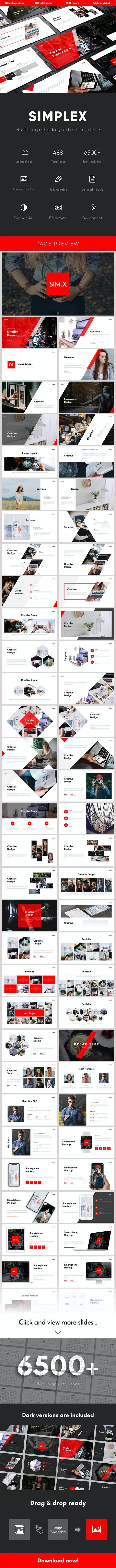 Simplex Multipurpose Keynote Template - Business Keynote Templates
