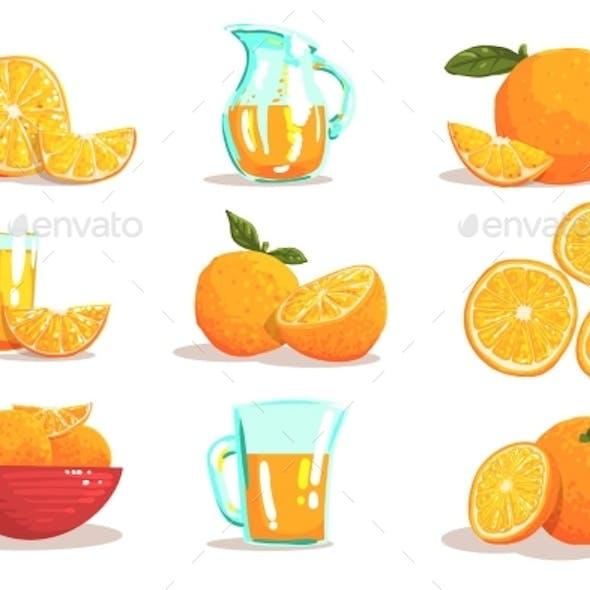 Oranges And Orange Juice Cool Style Bright