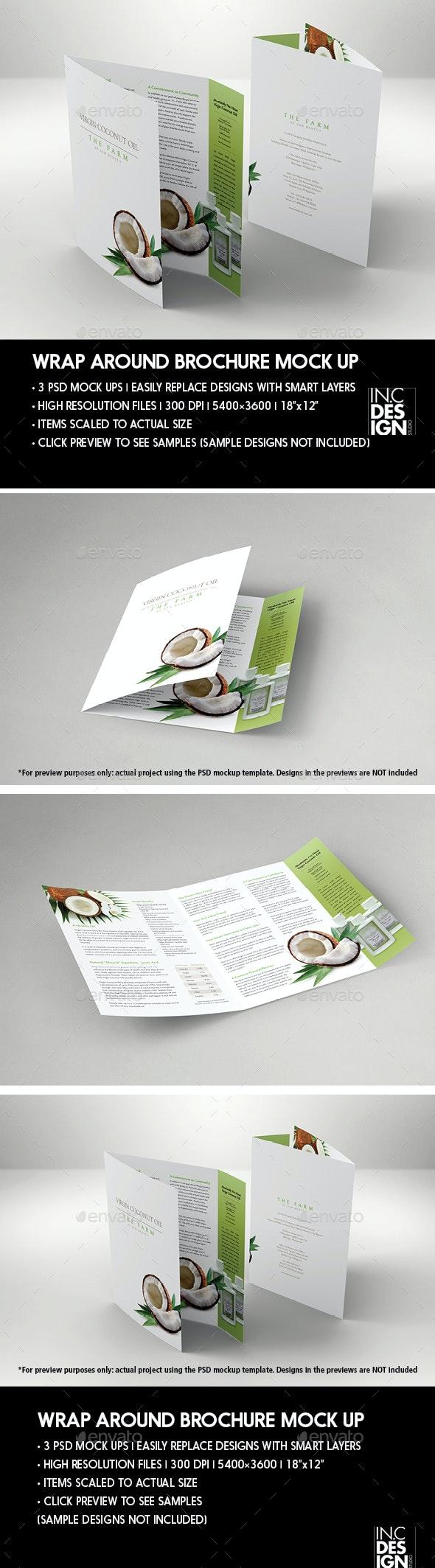 Wrap Around Brochure Mock Up - Brochures Print