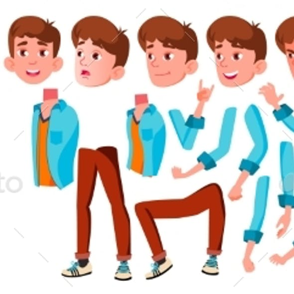Teen Boy Vector Creation Set