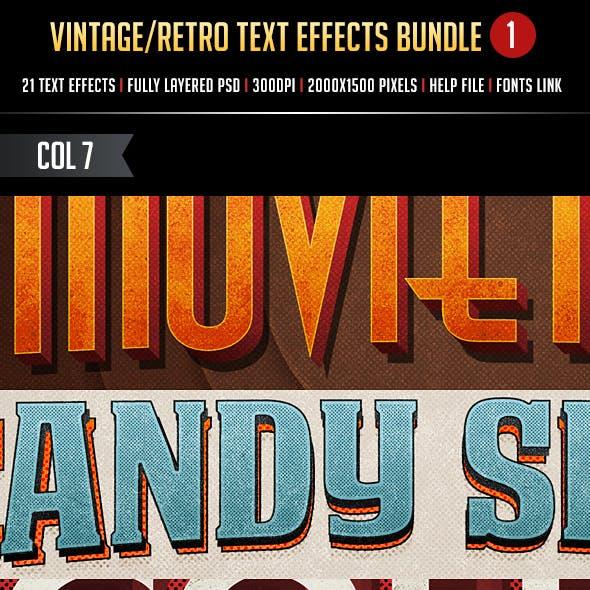 Vintage/Retro Text Effects Bundle 1