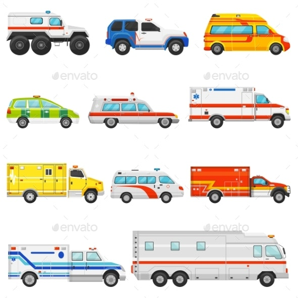 Emergency Vehicle Vector Ambulance Transport - Man-made Objects Objects