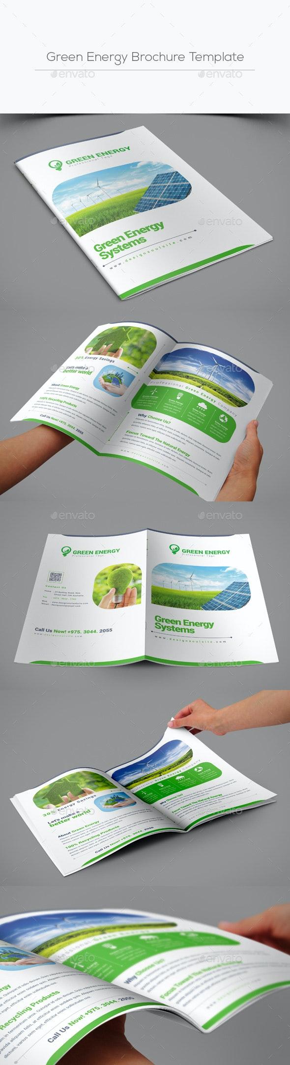 Green Energy Brochure Template - Corporate Brochures