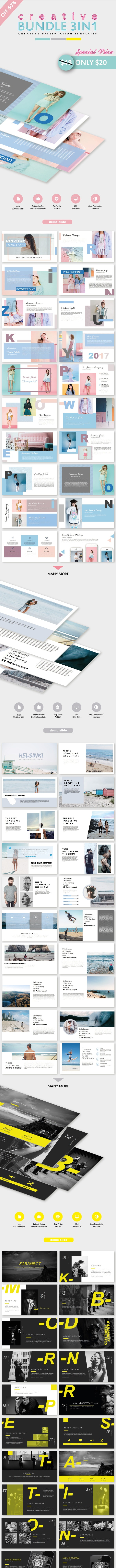 Special Creative Bundle 3 IN 1 PowerPoint Templates - Creative PowerPoint Templates