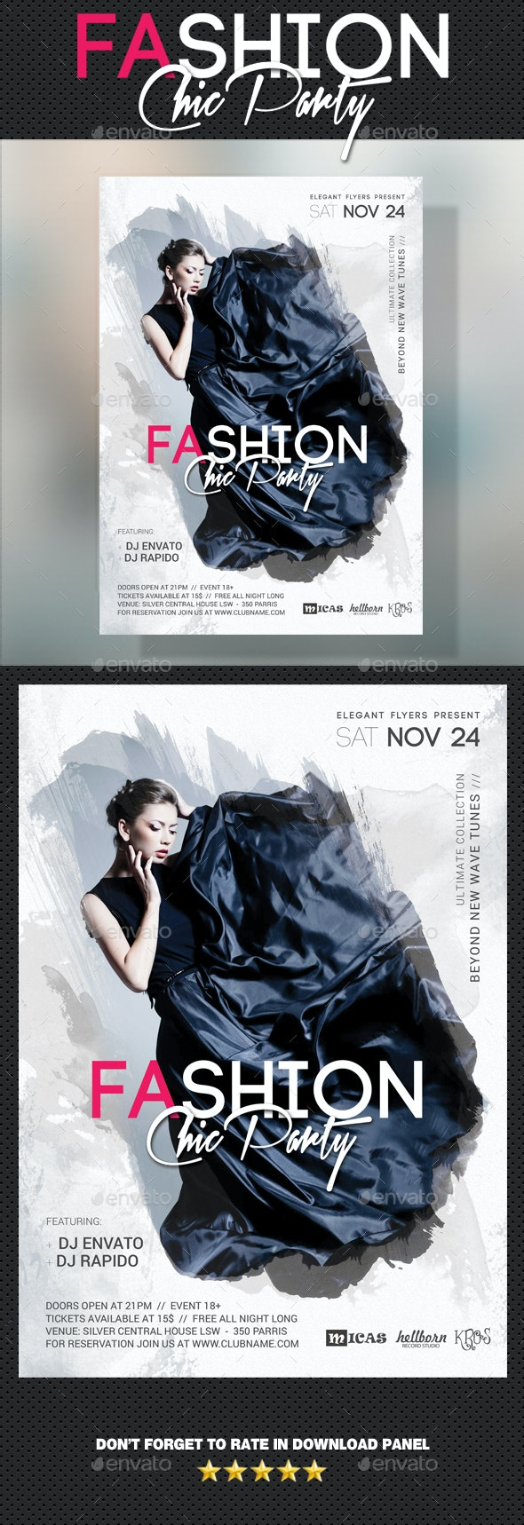 Fashion Chic Flyer - Clubs & Parties Events