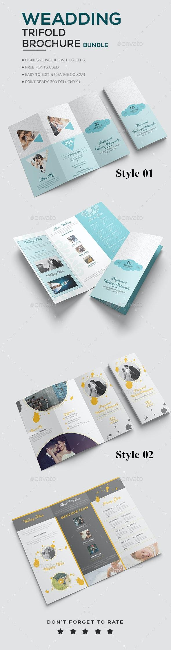 Wedding Brochure Bundle - Brochures Print Templates