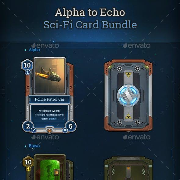 Alpha to Echo Sci-Fi Card Bundle