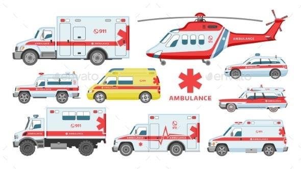 Ambulance Car Vector Emergency Ambulance Service - Health/Medicine Conceptual