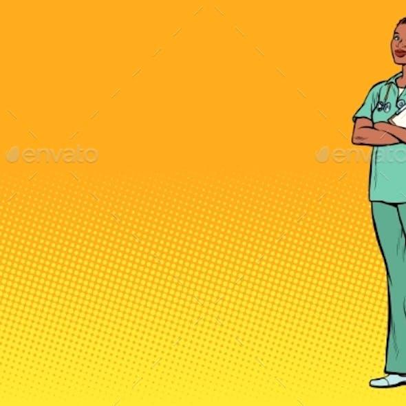 Pop Art Nurse Medicine and Health